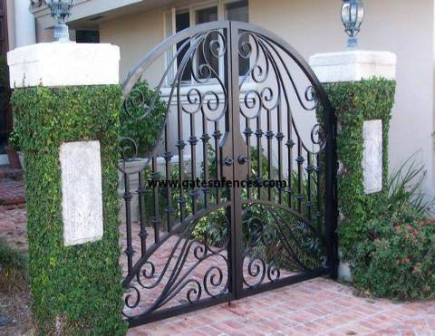 Paradise - Walk Gates, Iron Walk Gates, Aluminum Walk Gates with Custom Design