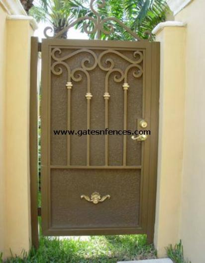 Sturdy Royalty - Custom Garden Gate, Pedestrian Gate, Aluminum Door Security Gate