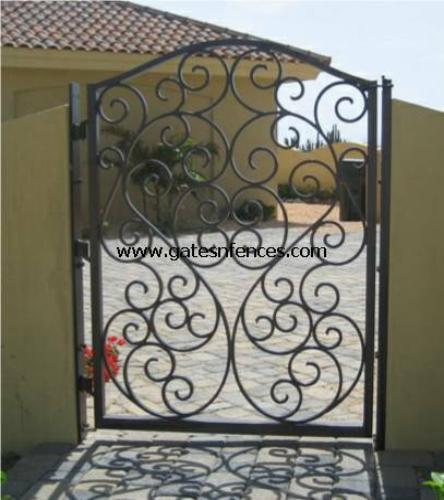 Iron Walk Gate Single Walk Gate Double Aluminum Garden