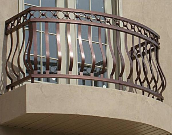 Balcony Rails Porch Decorative Railing Wrought Residential