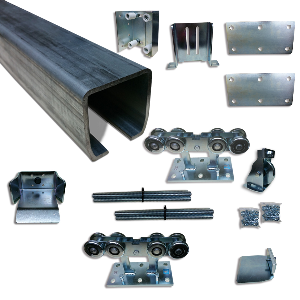 Slide gate truck assembly cantilever conversion kit