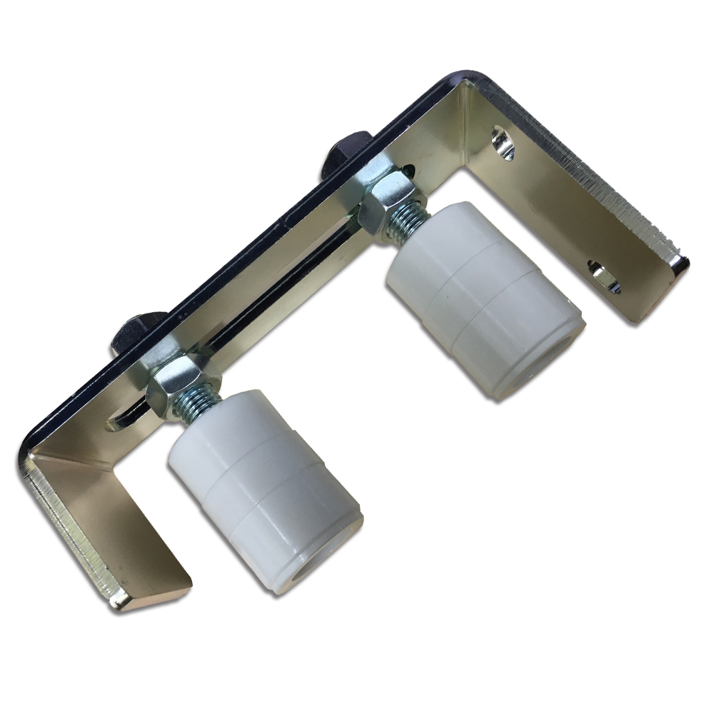 Double adjustable guide roller wheels