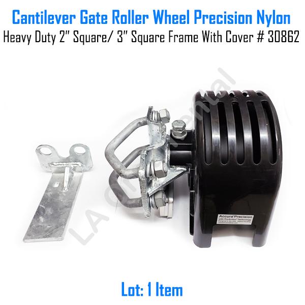 "Cantilever Gate Roller Precision Nylon 2 3//8/"" Round Gate frame 4/"" Round Post"
