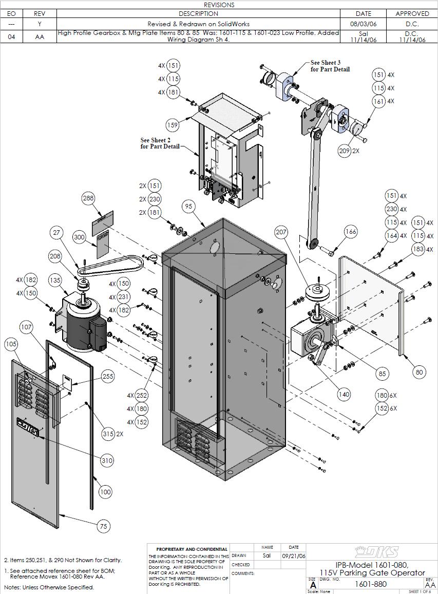 Doorking Replacement Parts Dks 1601 Replacement Part