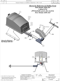 Doorking Swing Gate Opener Parts - 6100 (View 1)