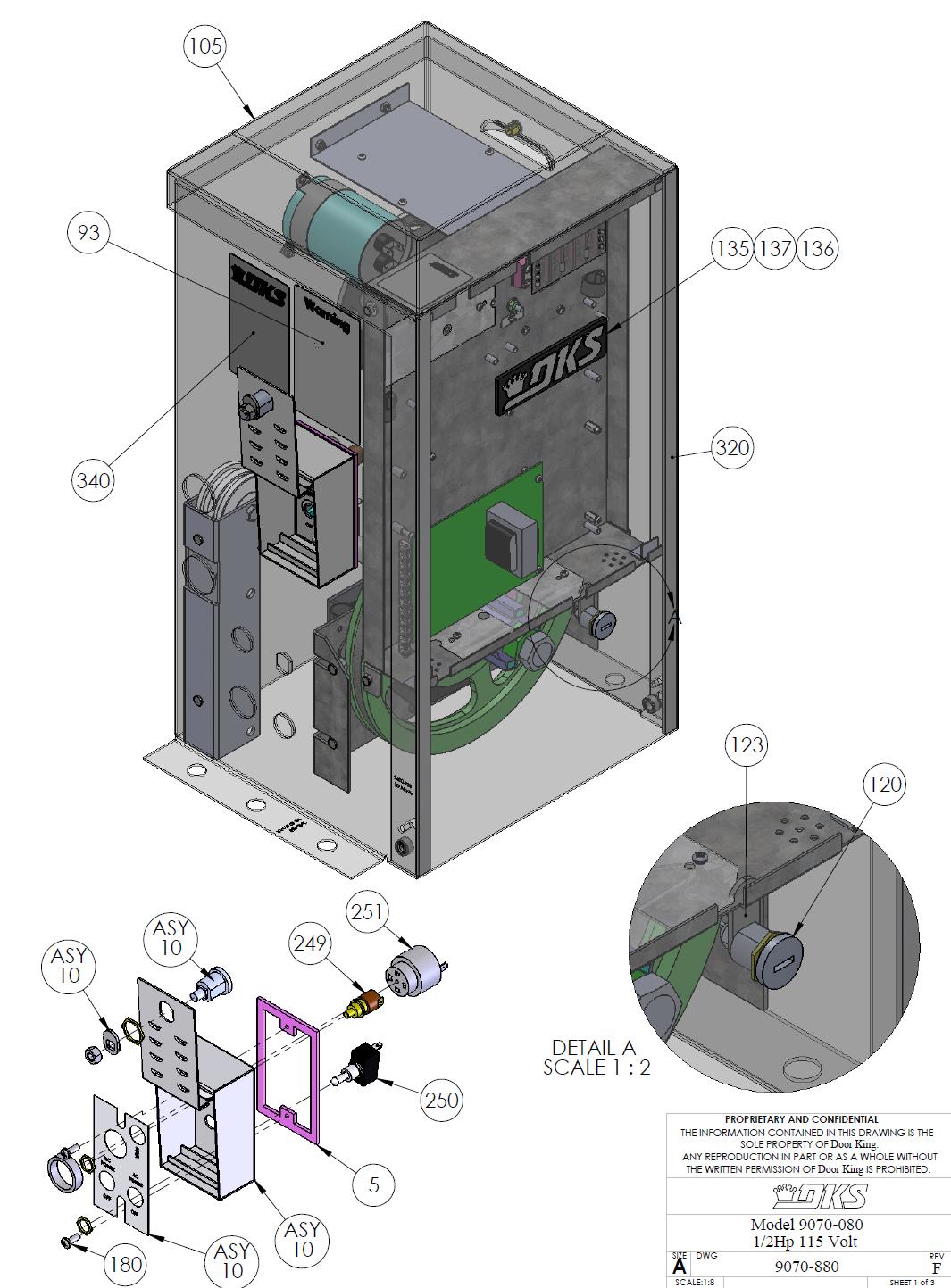 Doorking Parts - 9070-080  sc 1 st  L.A Ornamental & Doorking Parts Slide Gate Operator 9070-080 Doorking Replacement Parts