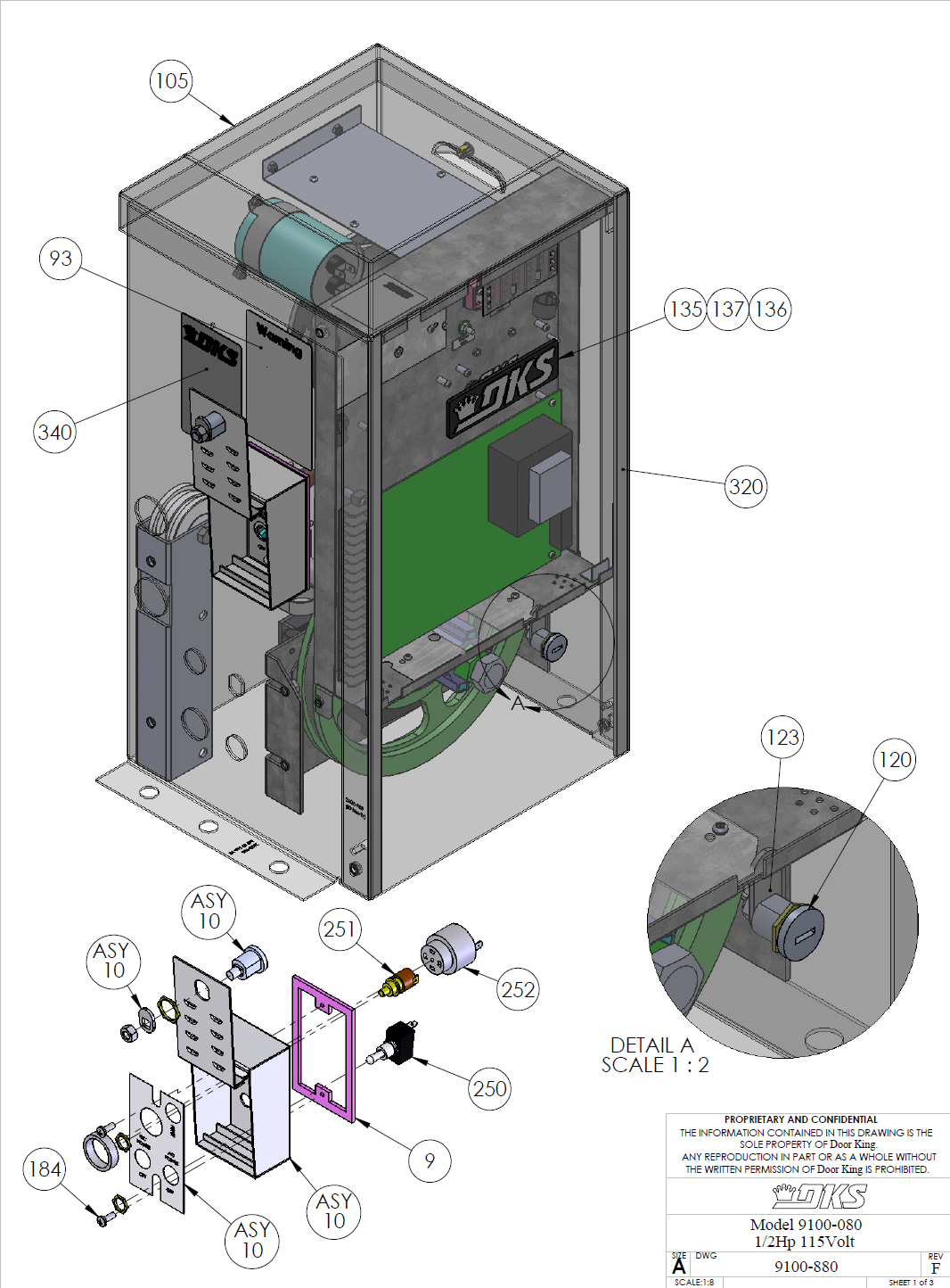 Doorking Parts Slide Gate Operator 9100 080 Doorking