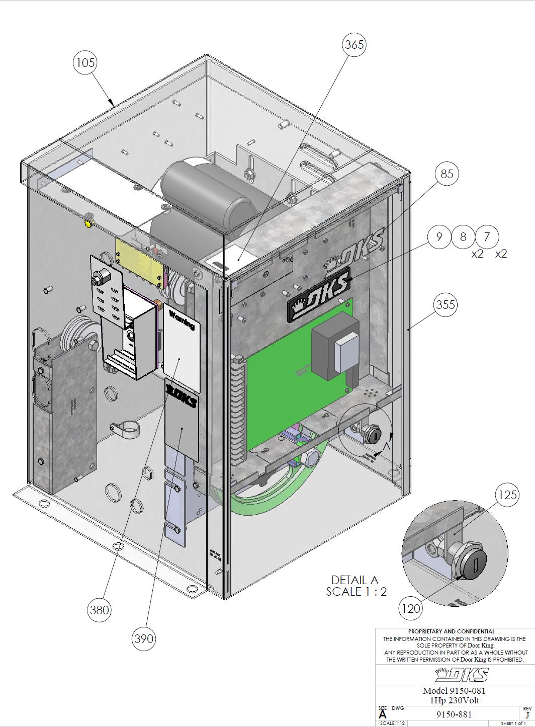 Doorking Parts - 9150-081  sc 1 st  L.A Ornamental & Doorking Parts Slide Gate Operators 9150-081 Doorking Replacement Part