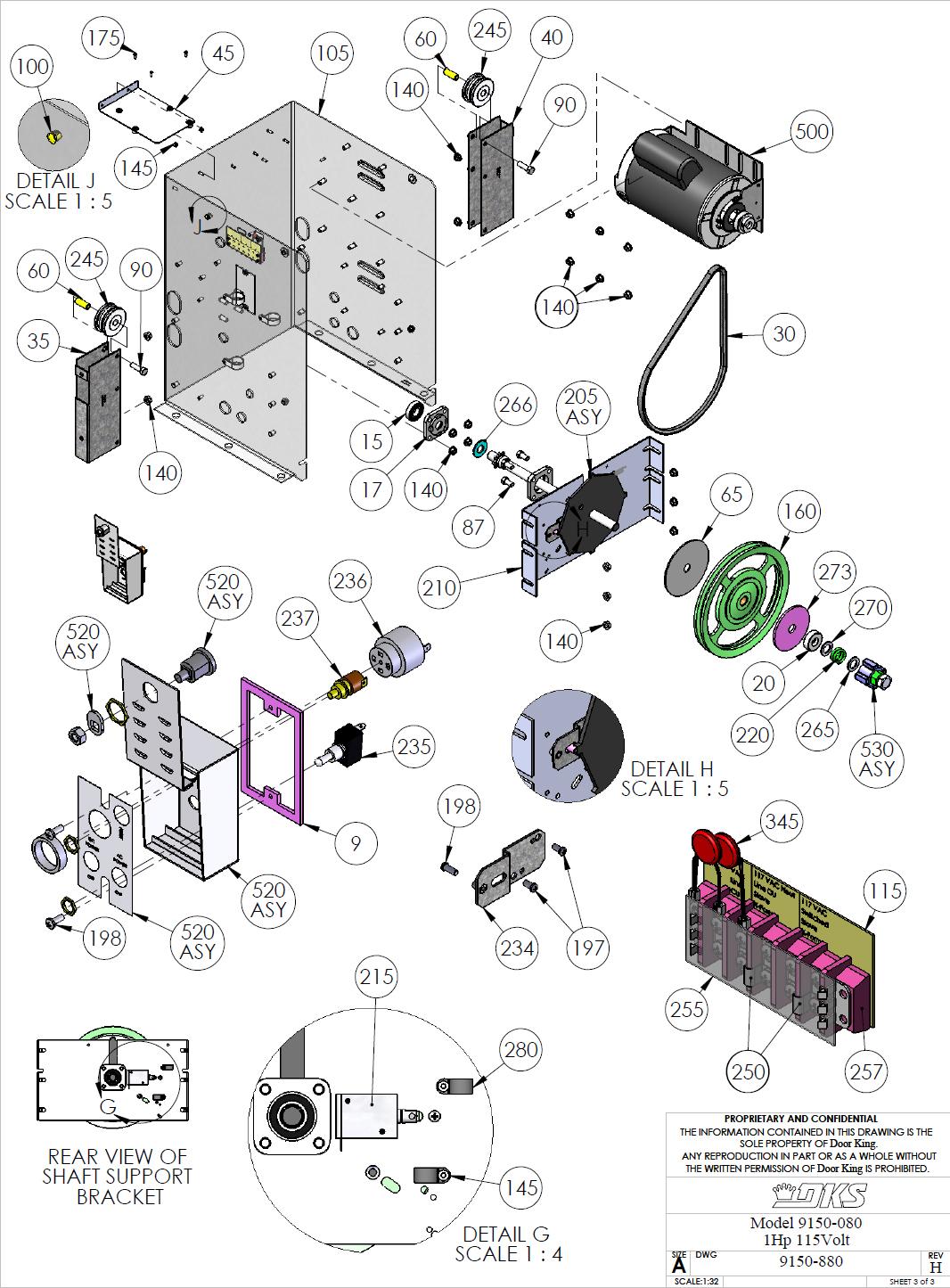 doorking parts slide gate operators 9150