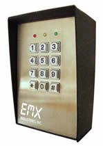 EMX KPX-100 Digital Keypad for Exterior Access Control Entry System