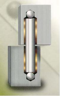 Elite Power Hinge 3, Aluminum Gate Hinges, Driveway Gate Hinges, Heavy Duty Gate Hinges