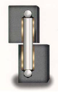 Elite Power Hinge 1 - Steel / Steel Gate Hinge