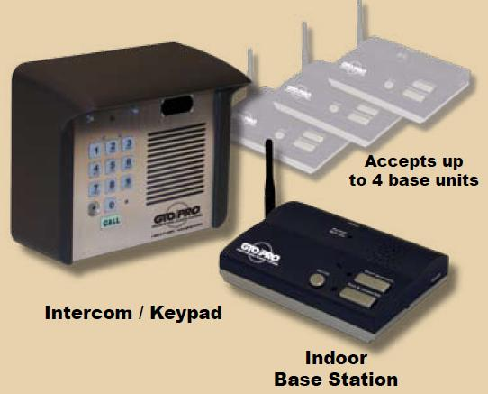 GTO F3100MBC Wireless Intercom System, Entry Gate Intercom w/ Keypad