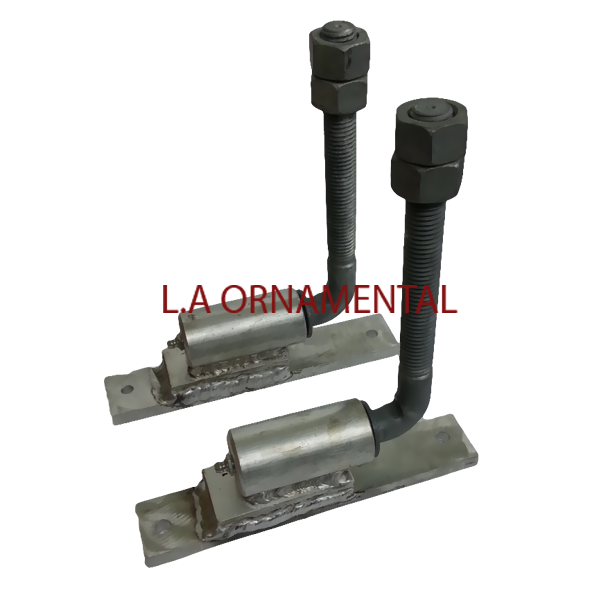 3/4; J-bolt Hinge Adjustible Heavy Duty Gate Hinge Aluminum (PAIR)