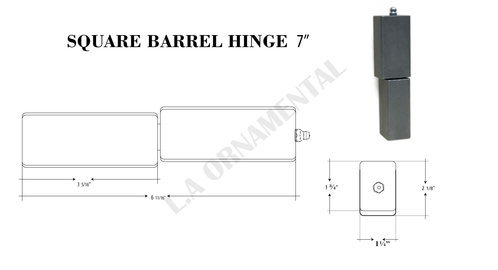 5 8 J Bolt Adjustable Heavy Duty Hinge Heavy Gates 3 4
