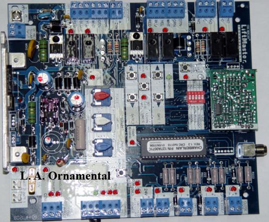 Liftmaster LA400 Circuit Board, Liftmaster K001A6039 Circuit Board on wayne dalton opener wiring diagram, crusader opener wiring diagram, genie garage opener wiring diagram, chamberlin opener wiring diagram,