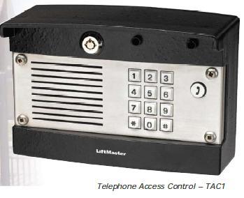 Liftmaster TAC1 Telephone Entry Access Control System , Liftmaster Wired Entry System - Single Line