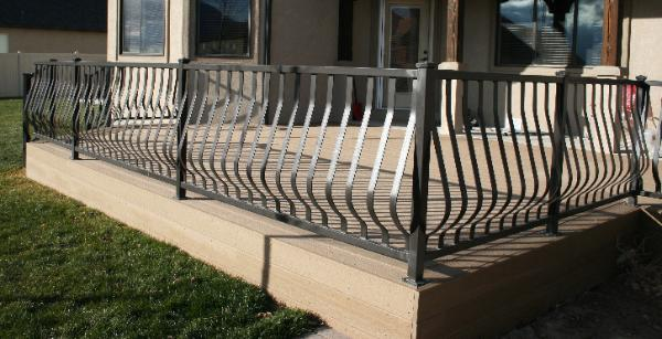 Railings balcony porch deck rails metal aluminum wrought