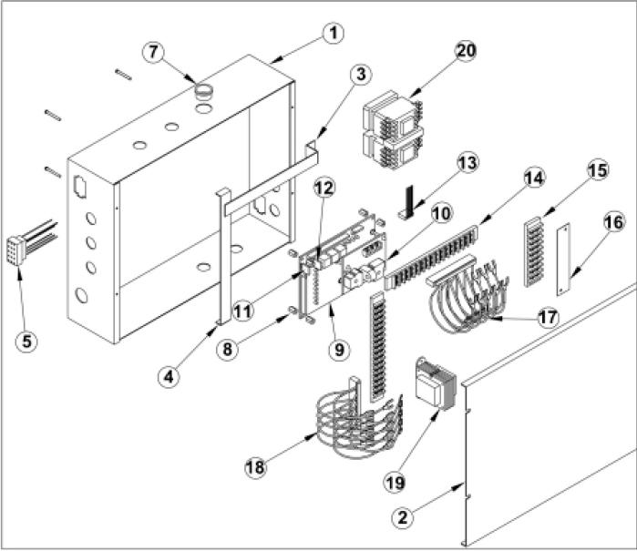 Osco Gslg A Three Phase Control Box Slide Gate Openers