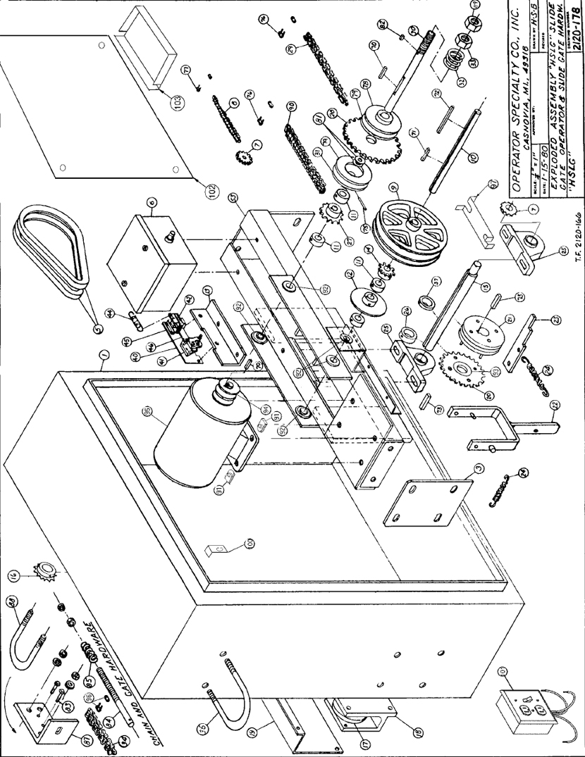 Osco Sliding Gate Opener Replacement Parts Hslg Wiring Diagram Slide