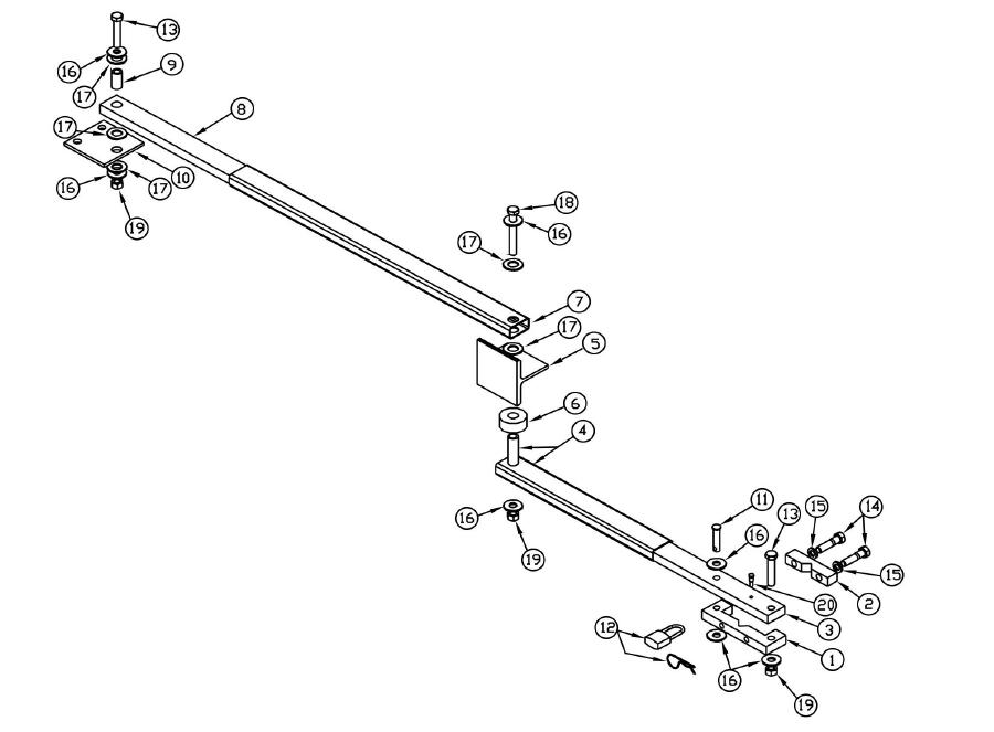 Repair Parts Osco Gate Operators Swd Osco Arm Assembly