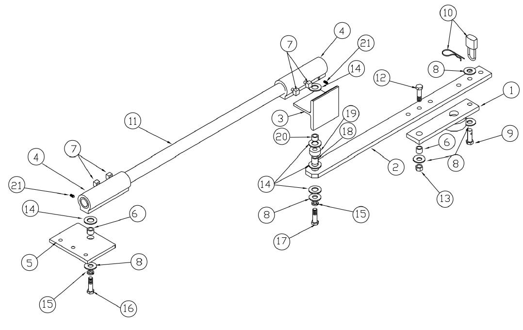 Osco swg repair parts swing gate opener