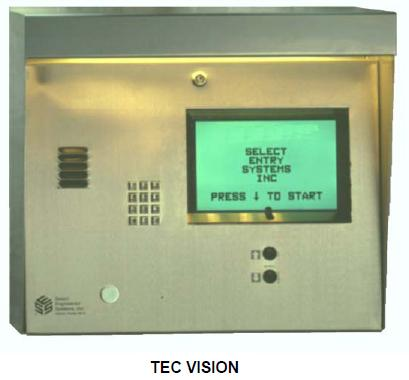 Select Engineered Systems TEC Vision Telephone Entry Control - SES TEC VISION