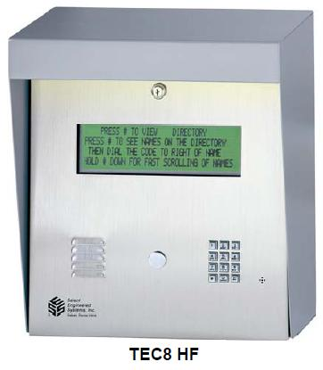 Select Engineered Systems TEC8HF Telephone Entry Control - SES TEC 8 HF