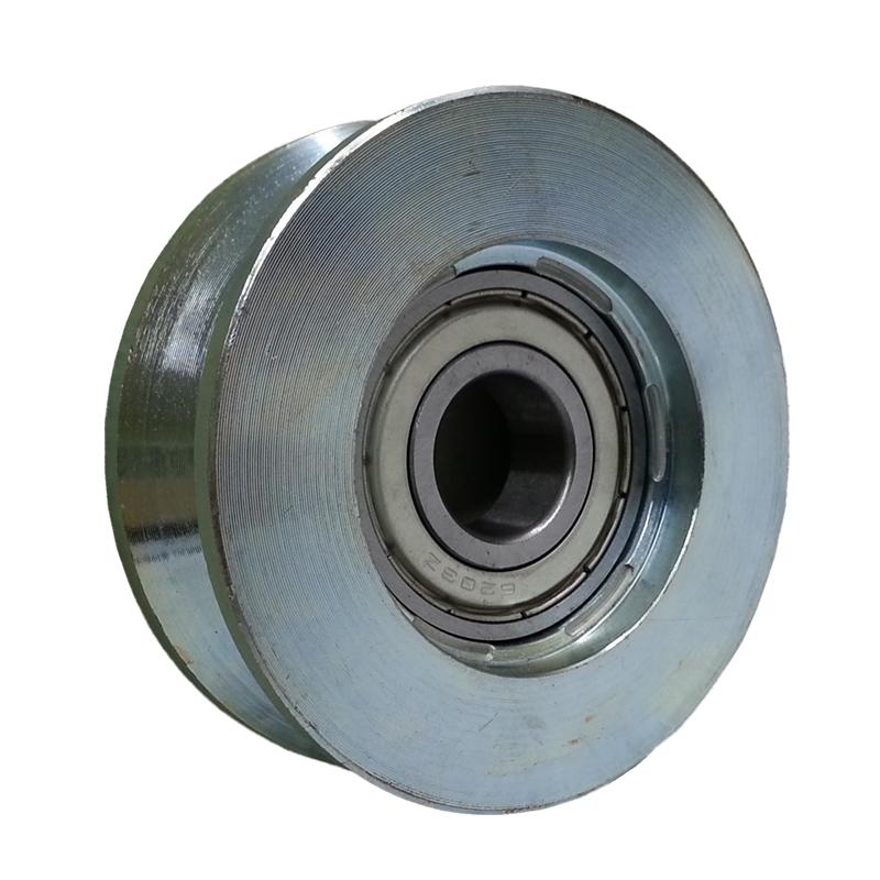 Gate wheel rollers v track plastic cantilever roller slide