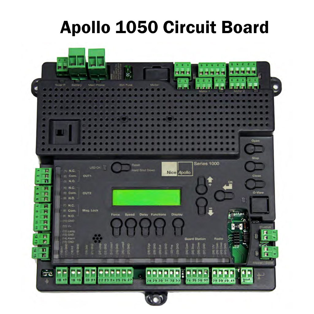 1050 control board apollo circuit boards, apollo control boards, gate operator boards Wiring Harness Diagram at gsmx.co