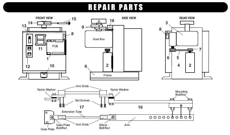 [SCHEMATICS_48DE]  Liftmaster Mega Swing Parts Liftmaster Mega SWing Gate Opener Parts   Liftmaster Gate Openner Schematics      L.A Ornamental