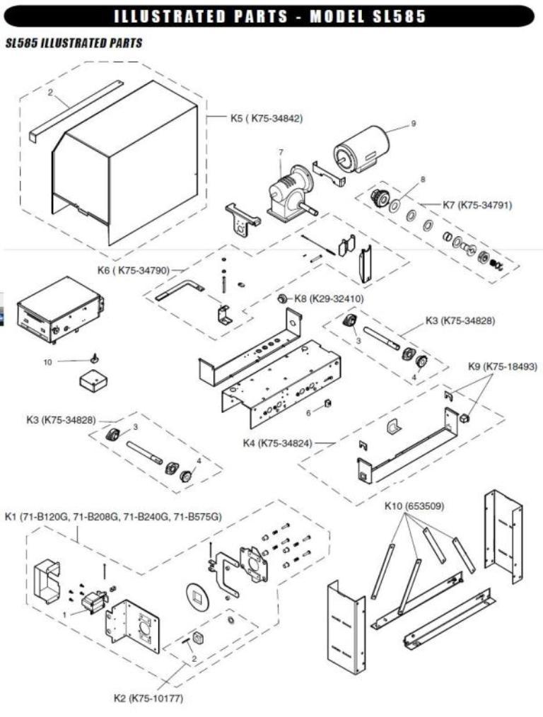 Liftmaster Sl585 Replacement Parts Liftmaster Sl585 Operator Parts