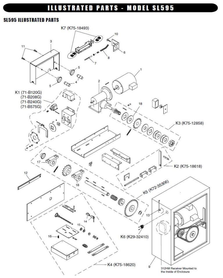 Liftmaster Sl595 Replacement Parts Liftmaster Sl585