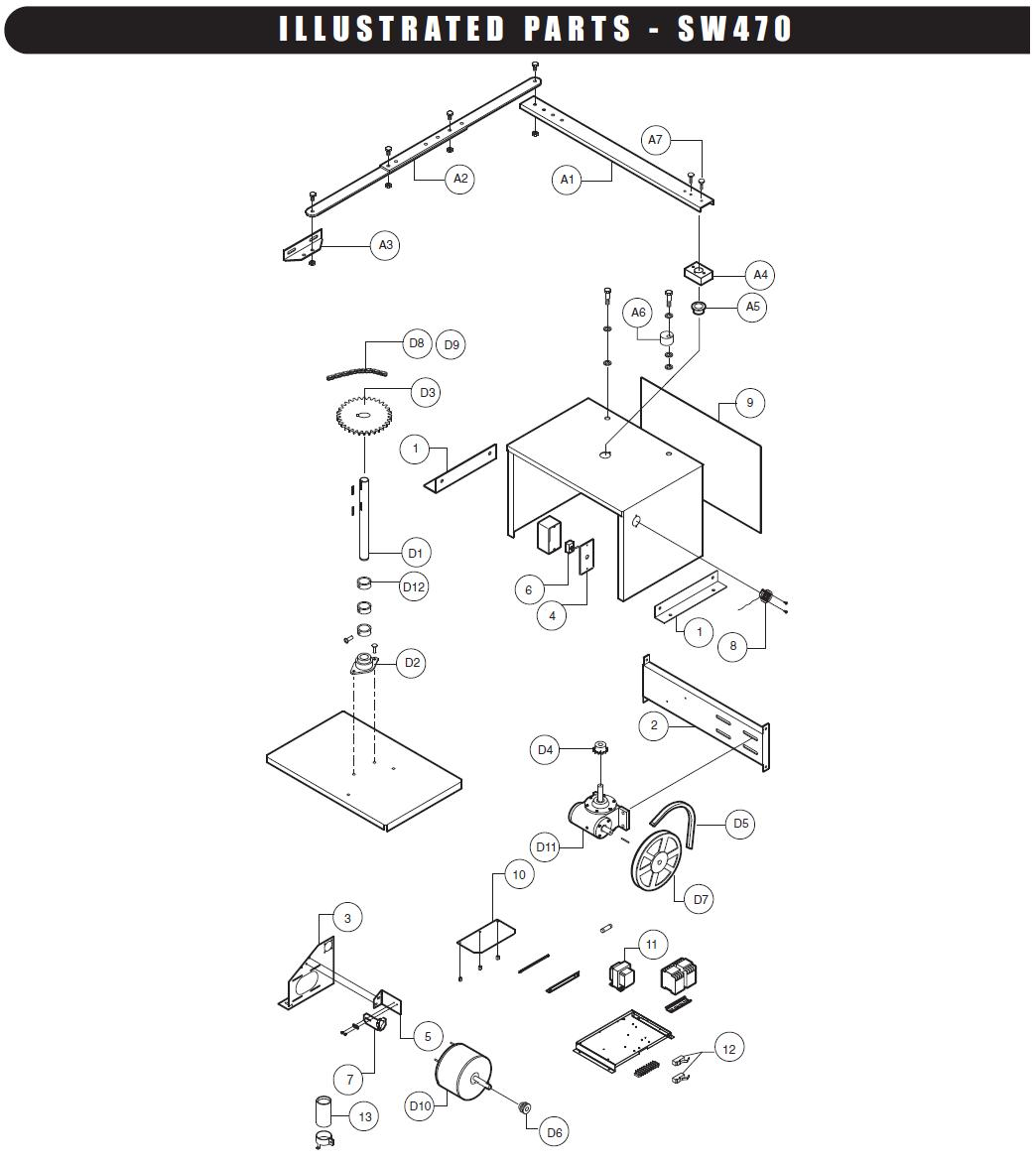 Liftmaster Gate Openner Schematics Trusted Wiring Diagrams Lift Master Schematic Sw470 Opener Parts Replacement 7 Wire