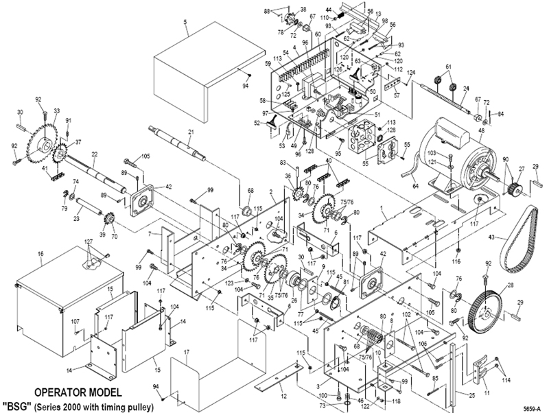 powermaster bsg 2000 sliding gate operator bsg 2000 replacement parts