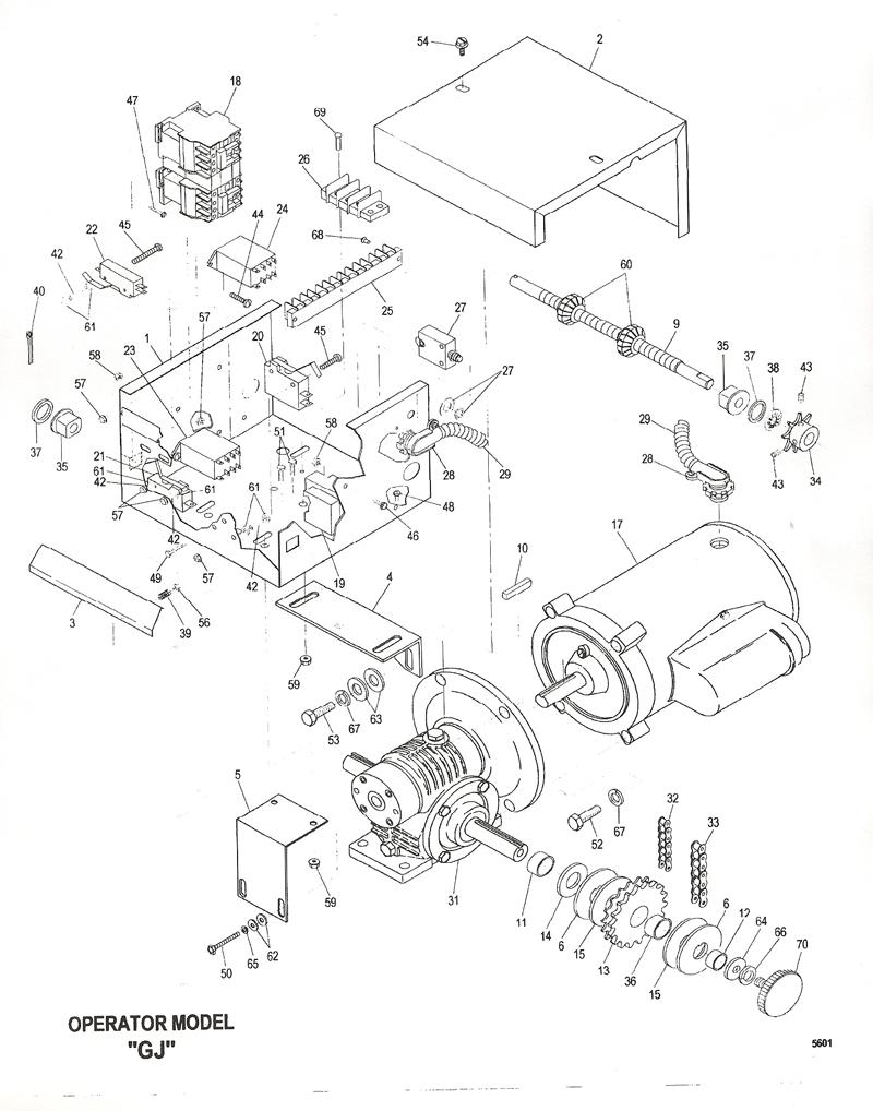 powermaster gj gate operator replacement parts or gj