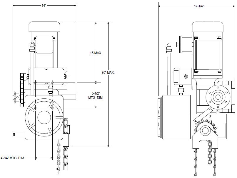 Power master overhead door operator emg model