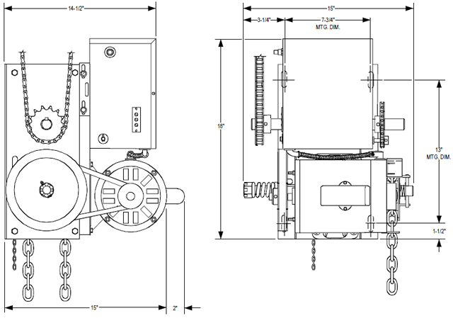 powermaster H overhead door operator exploded view 3 phase roller door wiring diagram 3 phase to 1 phase wiring electric roller shutter wiring diagram at gsmx.co