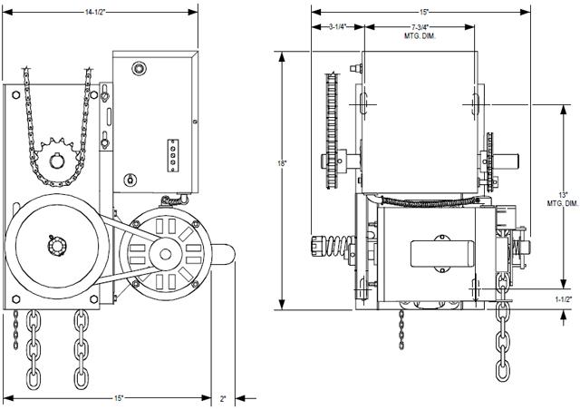 power master overhead door operator rh model