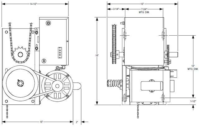 Power Master Overhead Door Operator Rj Model
