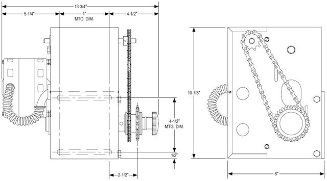 Power master overhead door operator sj model