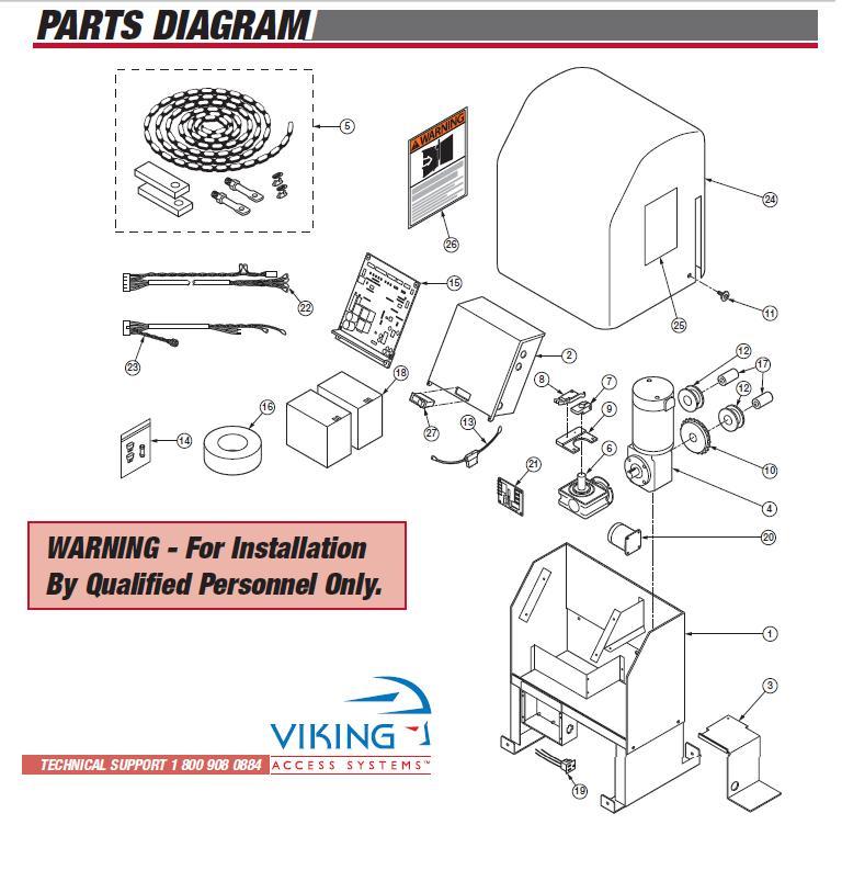Viking H10 Gate Opener Parts Viking H 10 Operator