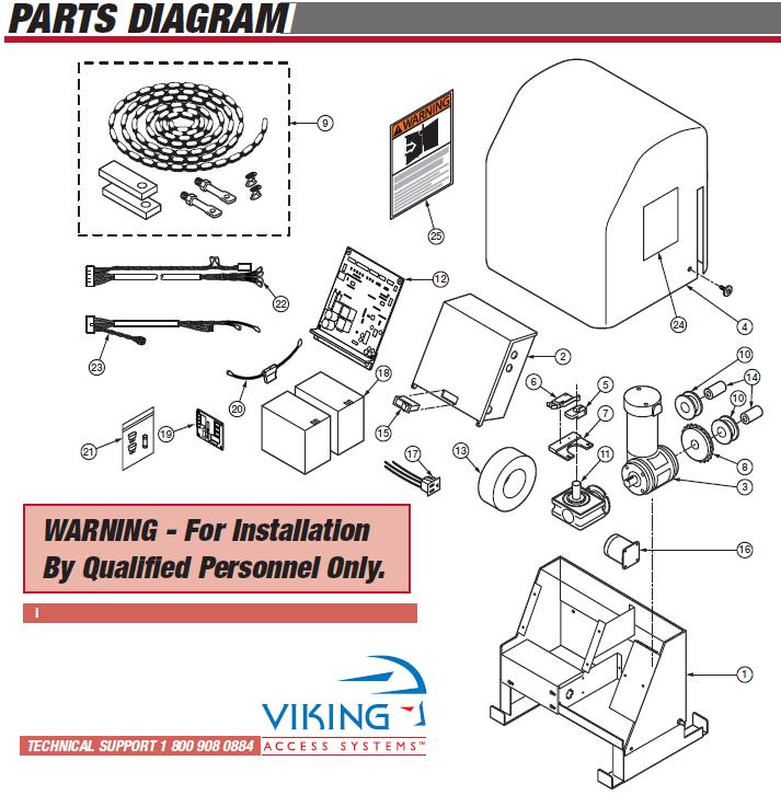 Viking K-2 Replacement Parts, Viking K2 Gate Opener Replacement Parts