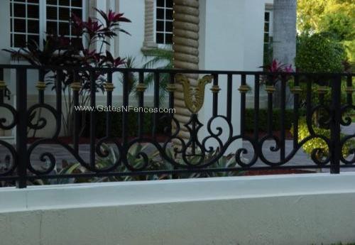 Golden Leaves Of Triumph Aluminum Custom Fence Design Iron