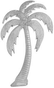 Aluminum Casting Palm Trees Cast Ornamental Design Left