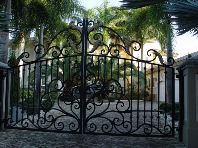Wrought Iron Custom Gates Metal Garden Driveway Entrances Ornamental