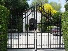 Mid-Evil - Wrought Iron or Aluminum Driveway Gate