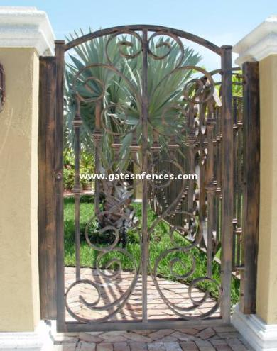 Sea Shell Garden Gate Doors Entrance Safety Gate Aluminum