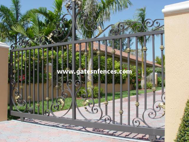 Elegant Queen Sliding Gate Swing Driveway Gate Aluminum