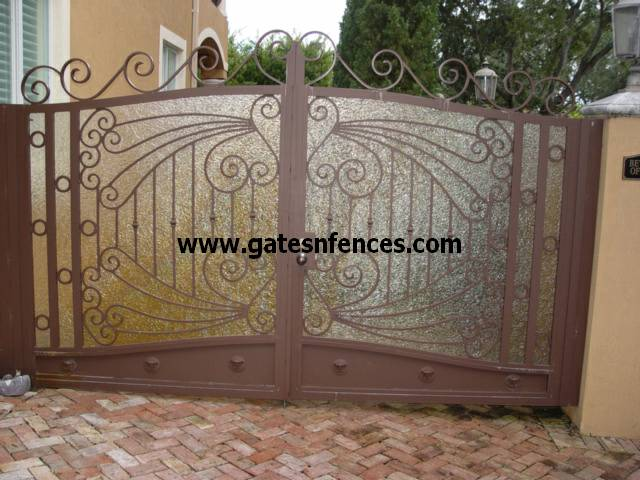 Driveway Outdoor Aluminum Wrought Iron Gate Wrought Iron